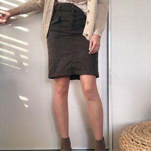 Anthropologie green utility skirt